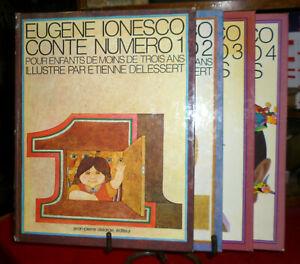 IONESCO CONTE POUR ENFANTS DE MOINS DE 3 ANS ILL. DELESSERT n° 1,2,3,4 - DELARGE