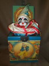 VTG 1985 WILLIE THE CLOWN MUSICAL JACK IN THE BOX BY ENESCO IMPORTS