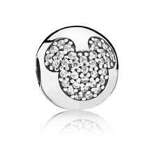 Authentic Pandora Disney Mickey Pave Charm Sterling Silver Bead 791449CZ
