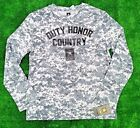 Duty Honor Country US Army Digital Camouflage Long Sleeve Shirt Medium