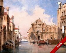 ST MARKS SCHOOL VENICE ITALY SAN MARCO PAINTING ART REAL CANVAS GICLEEPRINT