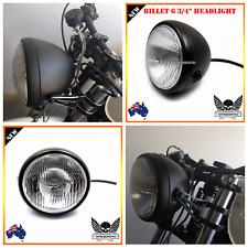 "Black motorcycle 6.75"" H4 35W headlight Harley chopper cafe racer bobber project"