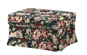 NEW IKEA EKTORP FOOTSTOOL COVER ONLY IN LINGBO MULTICOLOUR FLORAL - 304.033.21