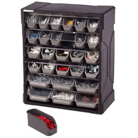 28-Drawer Small Parts Organizer Bin Home Workshop Wall Mountable Storage Cabinet
