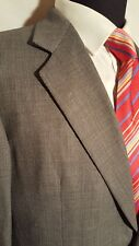 Hickey Freeman Boardroom Charcoal Gray Blazer 40R