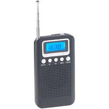 Taschenradios: UKW-/MW-Taschenradio mit LCD-Display, Wecker, Teleskop-Antenne