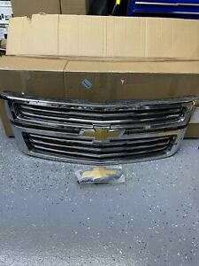 2015-2020 CHEVY TAHOE SUBURBAN CHROME OEM GRILLE from new vehicle 22936489