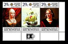 MICRONESIA - 1992 - 500° anniversario della scoperta dell'America Colombo mnh