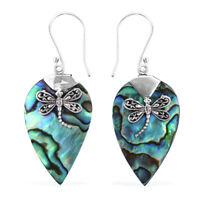 Dangle Drop Earrings 925 Sterling Silver Abalone Shell Women Jewelry
