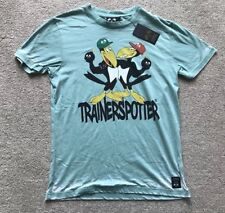 """TRAINERSPOTTER """"CROWBOMB"""" T-SHIRT. SIZE S (38""""). GREEN. 100% COTTON. RRP £25."""