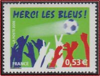 "2006 FRANCE N°3936**  Football ""Merci les Bleus"" , FRANCE 2006 Soccer MNH"