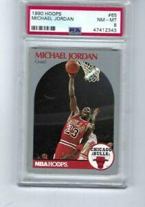 1990 HOOPS #65 MICHAEL JORDAN HOF PSA 8 NM-MT