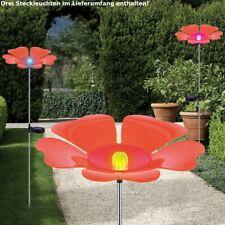 3er Set LED Solaire Luminaires Changement Fiche Lampes Jardin Fleurs Big Léger