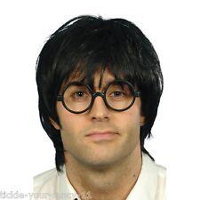 Men's School Boy Set Wig Glasses Fancy Dress Costume Potter Theme Wizard Kid