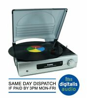 STEEPLETONE ST918 SILVER STEREO RECORD PLAYER 33,45,78 TURNTABLE BUILT IN AMP