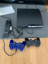 Sony PlayStation 3 PS3 Slim 160 GB Black Console (2 Controllers, Ps3 Remote)