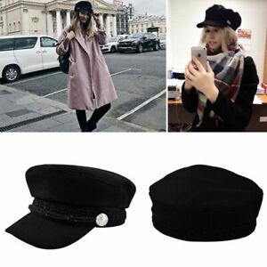 Women Ladies Girls Beret Hat Baker Boy Peaked Cap Newsboy Cadet Military Fashion