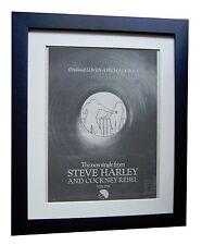 STEVE HARLEY+COCKNEY+Prima Donna+POSTER+AD+FRAMED+ORIGINAL 1976+FAST GLOBAL SHIP