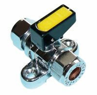 Metrogas 8mm Mini Lever Gas Ball Valve with Backplate