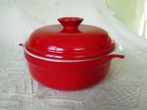 Emile Henry of France red Ceramic Casserole with Lid. 84.20