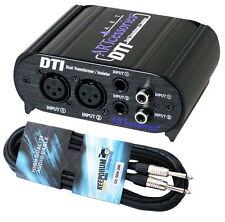 ART DTI passive DI-Box + Gitarrenkabel