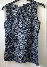"NEW ""Zara"" Women's Sleeveless Thick Stretch Vest Top, Size L, Grey animal print"