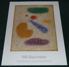 WILLI BAUMEISTER TEMPELWAND 1988 POSTER PRINT