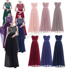 Womens Long Evening Lace Formal Party Cocktail Ball Gown Prom Bridesmaid Dresses