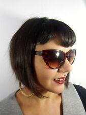 Gafas de sol papillon gatos ojos vintage retro pinup leopardo solar marrones