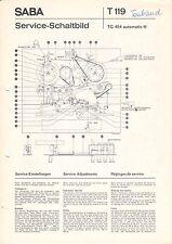 SABA - T 119 TG 454 automatic H - Service Schaltbild - B3049