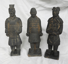 Set of Three Terracotta Warriors  - Made in Xi'an / Xian - Terracotta Army