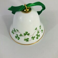 Royal Tara Mini Shamrock Bell Ornament Irish Fine Bone China, Galway Ireland