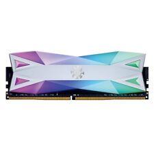 XPG SPECTRIX D60 RGB Desktop Memory: 16GB (2x8GB) DDR4 3200MHz CL16 White