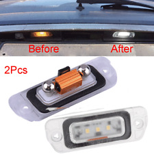 2x Rear LED License Plate Light For Mercedes Benz GL450 GL500 GL550 X164 2008-12