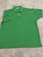 Lacoste Mens Green Crocodile Logo Short Sleeve Polo Size 7