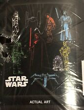 "Star Wars  CHARACTER Plush Throw Blanket 46"" width X 60"" height"