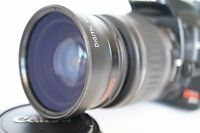Macro Wide Angle Lens for Canon Eos Digital Rebel 58mm sl1 XTi w/18-55 55-200mm
