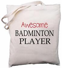 Awesome Badminton Player - Natural Cotton Shoulder Bag - Gift
