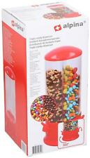 More details for triple candy machine dispenser sweets 3 compartment bubble gum snacks storage