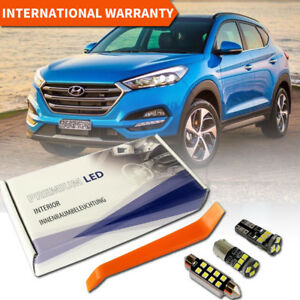 Hyundai Tucson 2016 LED Interior Premium Kit Full 7 SMD Bulbs White Error Free