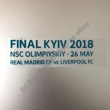 2018 Champions League Final - Match Details Badge -Real Madrid