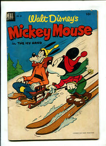 WALT DISNEY'S MICKEY MOUSE #28 1953 DELL (4.5) THE ICY HAND