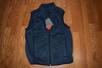 NWT Mens FREE COUNTRY Navy Indigo Fleece Sweater Knit Full Zip Vest M Medium