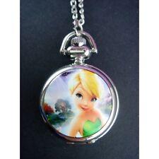 Disney Princess Tinkerbell Child Women Ladies Girl Pocket Pendant Watch Necklace