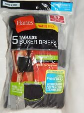 5 Boxer Briefs Hanes S Mens Tagless Comfort Soft Black Grey Solid Boxers 2349Z5