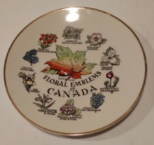 Vintage Decorative Collectible Plate Of Canada 8.50 Inch Gold Rim
