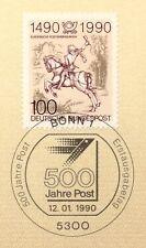 BRD 1990: 500 Jahre Post! Nr. 1445 mit dem Bonner Ersttagssonderstempel! 1A 1903