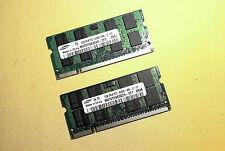 2GB (2 X 1GB) PC2-5300 DDR2 SoDimm 200pin DELL HP IBM Toshiba Laptop Memory RAM