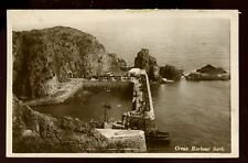 Channel Islands SARK Creux Harbour steam tug RP PPC used from 1926