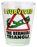"BERMUDA ""I SURVIVED BERMUDA TRIANGLE""  SHOT GLASS SHOTGLASS"